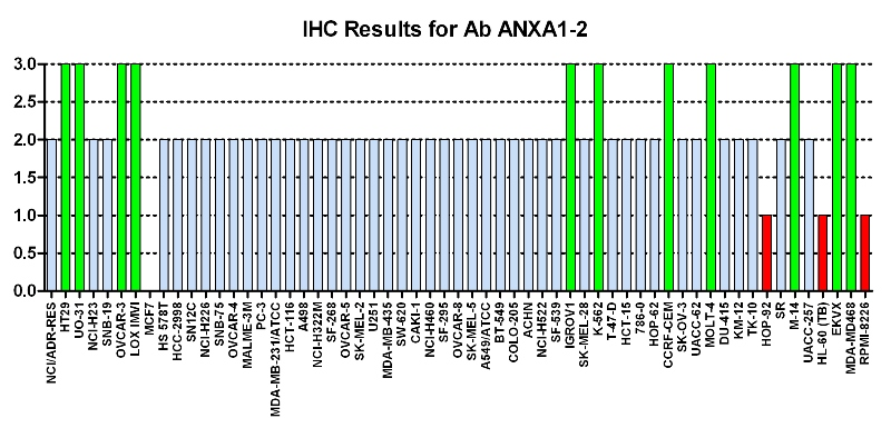 Click to enlarge image Immuno-histochemistry of CPTC-ANXA1-2 for NCI60  Cell Line Array at titer 1:7000